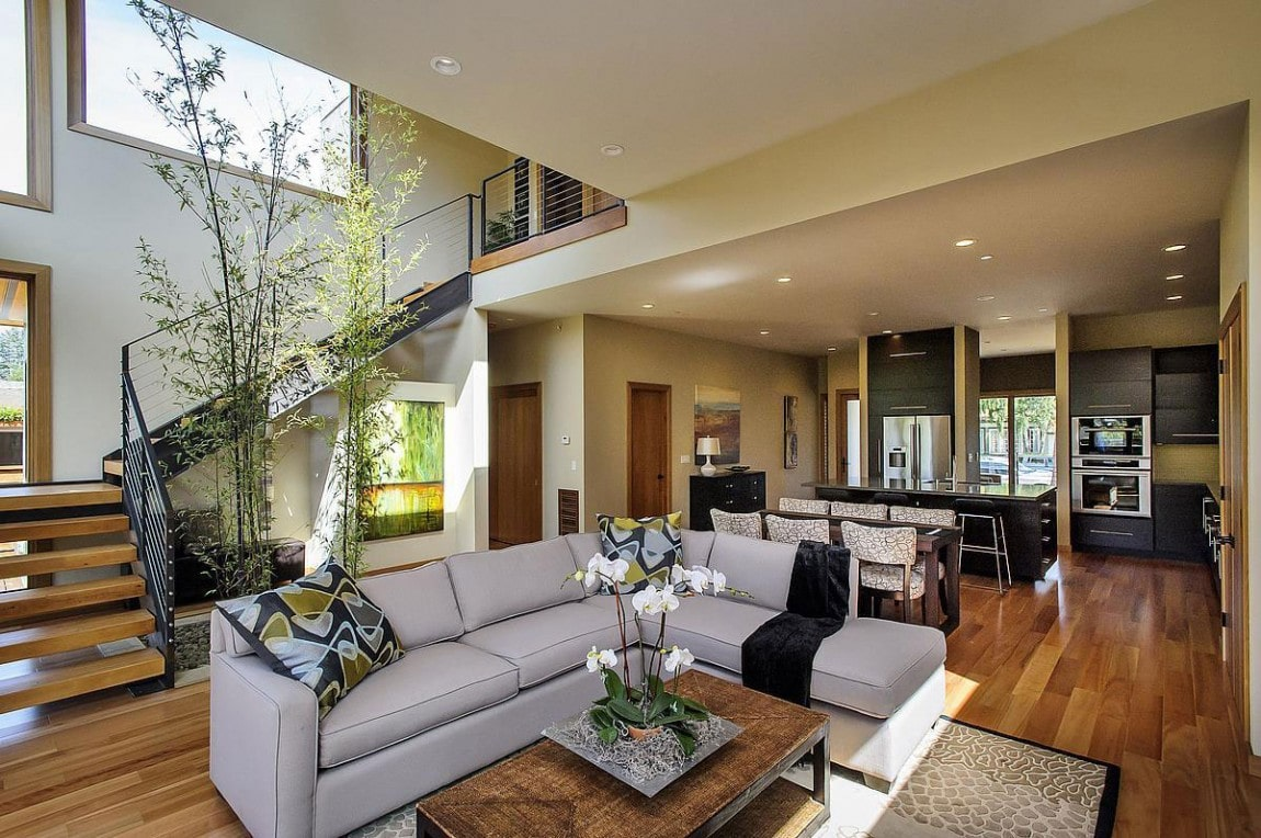 Contemporary style home approach