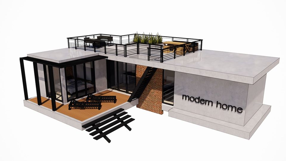 Guidelines for a one-story house with a roof deck